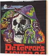Dr. Terrors House Of Horrors, Poster Wood Print