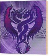 Dragon Duel Series 4 Wood Print