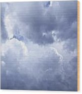 Dramatic Cloudy Sky Wood Print