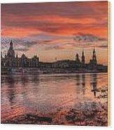 Dresden Sunset Wood Print