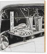 Drive-in Wood Print