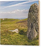 Druids Stone Circle Wood Print