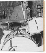 Drummer Gene Krupa Wood Print
