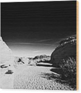 Dry River Bed Between Beehives Sandstone Formations In Valley Of Fire State Park Nevada Usa Wood Print