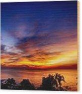 Dry Season-sunset Wood Print