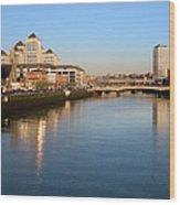 Dublin At Dawn Wood Print