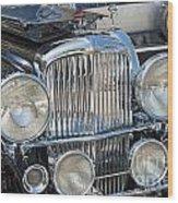 Duesenberg Front Chrome Automobile Grille Wood Print