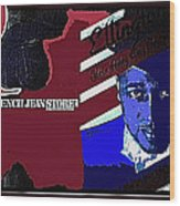 Duke Ellington And The French Jean Store Collage Coney Island New York 1977-2012 Wood Print