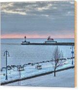 Duluth Winter Sunrise  Wood Print