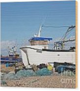 Dungeness Fishing Boats Wood Print