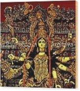 Durga Statue The Hindu Goddess #2 Wood Print by Amitava Ray