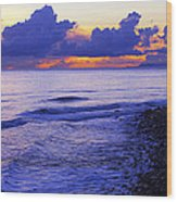 Dusk At County Line Wood Print by Ron Regalado