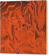 E Vincent Orange Wood Print