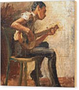 Eakins' Study For Negro Boy Dancing -- The Banjo Player Wood Print