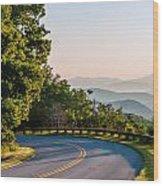 Early Morning Sunrise Over Blue Ridge Mountains Wood Print