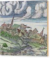 Earthquake, 1550 Wood Print