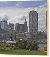 East Boston Harbor Wood Print