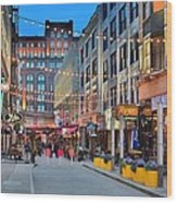 East Fourth Street In Cleveland Wood Print