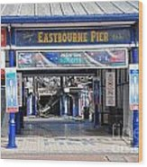 Eastbourne Pier Fire July 2014 Wood Print