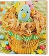 Easter Cupcakes  Wood Print