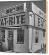 Eat Rite Diner Route 66 Wood Print