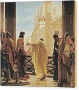Ecce Homo Wood Print by Antonio Ciseri