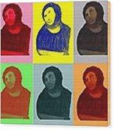 Ecce Homo - Warhol Style Wood Print
