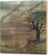 Edge Of Reason And Rationality Wood Print