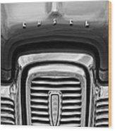 Edsel Corsair Grille Emblem Wood Print