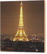 Eiffel Tower - Paris France - 01131 Wood Print by DC Photographer