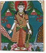 Ek Darshi Mata Vishnu Avatar Wood Print by Ashok Kumar
