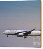 El Al Israeli Airlines Wood Print