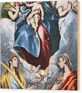 El Greco's Madonna And Child With Saint Martina And Saint Agnes Wood Print