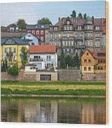 Elbe River Town Wood Print