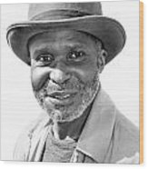 Elderly Black Man Wood Print