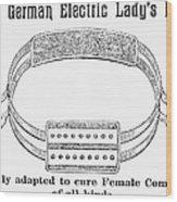 Electric Belt Ad Wood Print