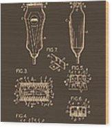 Electric Razor Patent 1940 Wood Print