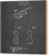 Electric Violin Patent Drawing From 1960 Wood Print