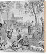 Emigrants Arkansas, 1874 Wood Print
