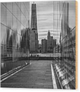Empty Sky Memorial And The Freedom Tower Wood Print