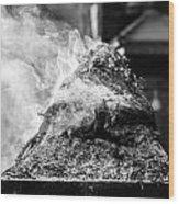 Encens Burning Wood Print