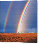 End Of The Rainbow Wood Print by Ron Regalado