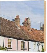 English Cottages Wood Print