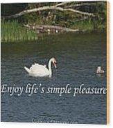 Enjoy Lifes Simple Pleasures Wood Print