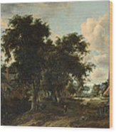 Entrance To A Village Wood Print