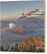 eruption at Gunung Bromo Wood Print