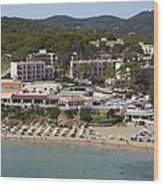 Es Figueral Beach And The Invisa Hotels Wood Print