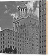 Esperson Buildings Houston Tx Wood Print
