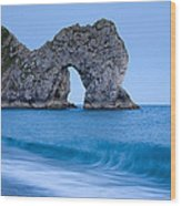 Evening At Durdle Door Wood Print