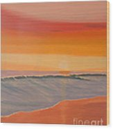 Evening At Mission Beach Wood Print